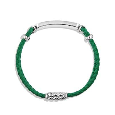Station Green Leather Bracelet with Malachite