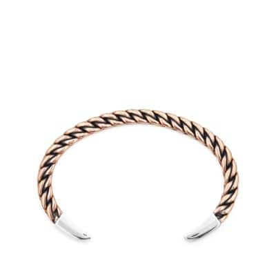 Titian Woven Cuff Bracelet with Copper and Sterling Silver
