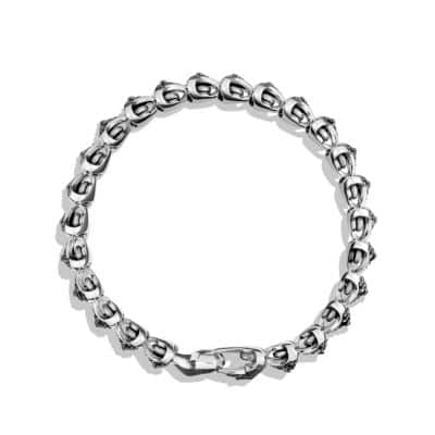 Armory Single Row Link Bracelet with Black Diamonds