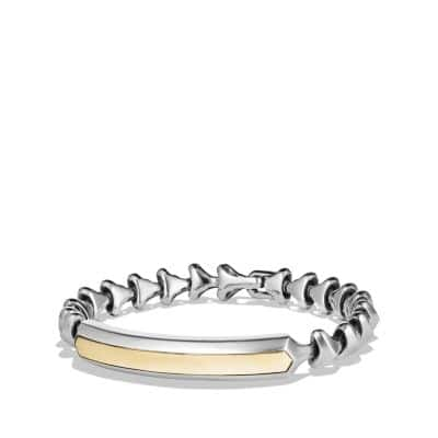 Armory Single Row ID Bracelet with 18K Gold