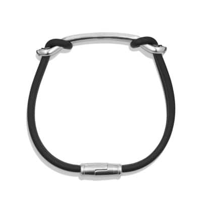 Maritime RubberReef Knot ID Bracelet in Black