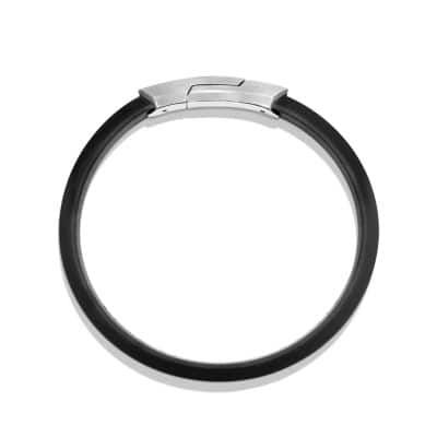 Streamline Rubber ID Bracelet in Black
