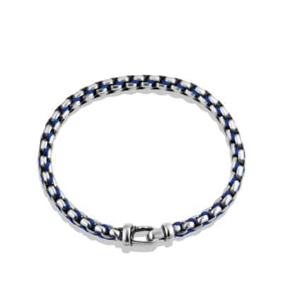 Woven Box Chain Bracelet in Blue