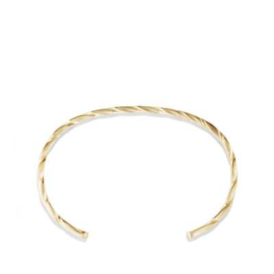 Cable Classics Narrow Cuff Bracelet in 18K Gold, 5.5mm