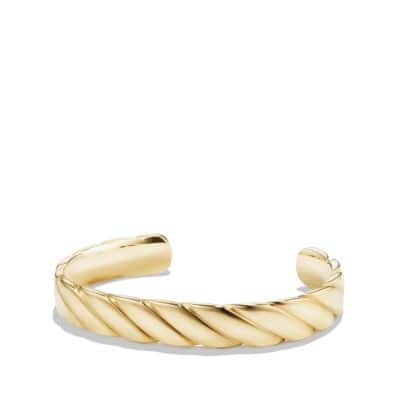 Cable Classics Wide Cuff Bracelet in 18K Gold, 11mm