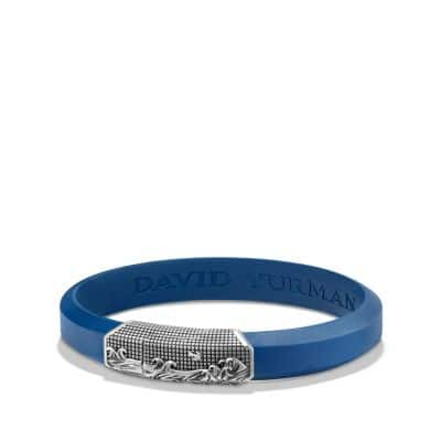 Waves Rubber ID Bracelet in Blue