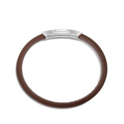 Graphic Cable Rubber ID Bracelet in Brown