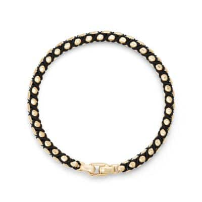 Woven Box Chain Bracelet in 18k Gold, 4.8mm