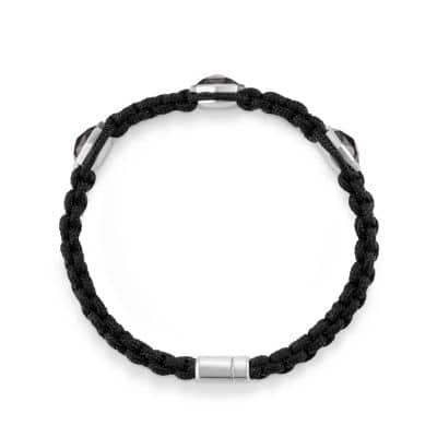 Forged Carbon Woven Three-Station Bracelet