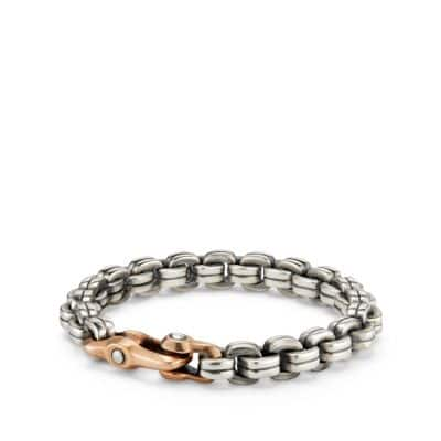 Anvil Chain Bracelet with Bronze, 9.5mm