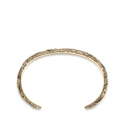 Northwest Narrow Cuff Bracelet in 18K Gold
