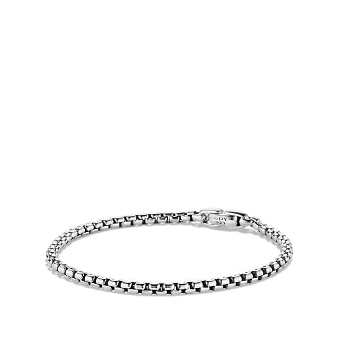 Medium Box Chain Bracelet, 4mm