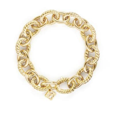 Large Oval Link Bracelet in 18K Gold