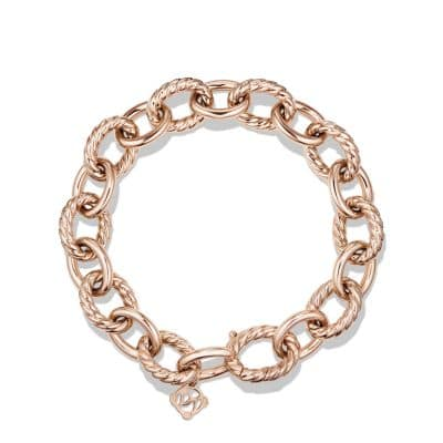Large Oval Link Bracelet in 18K Rose Gold