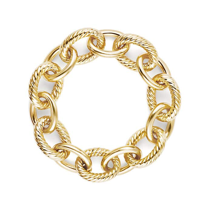 Oval Extra-Large Link Bracelet in Gold