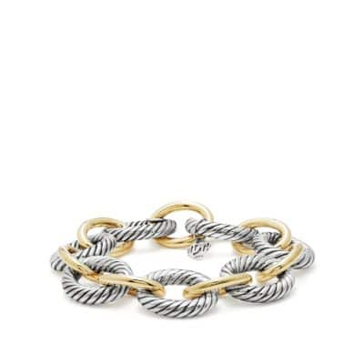 Oval Extra-Large Link Bracelet with Gold