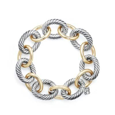 Extra-Large Oval Link Bracelet with 18K Gold