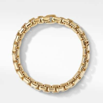 Box Chain Bracelet in 18K Gold, 8mm