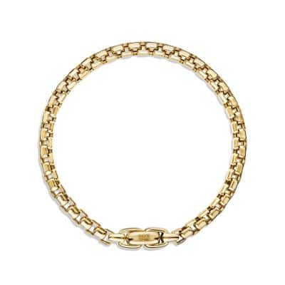 Box Chain Bracelet in 18K Gold, 5mm