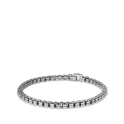 Double Box Chain Bracelet , 4mm