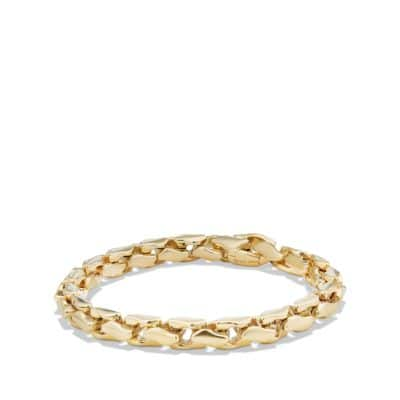 Large Fluted Chain Bracelet in 18K Gold, 7.5mm