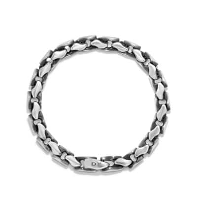 Large Fluted Chain Bracelet, 7.5mm