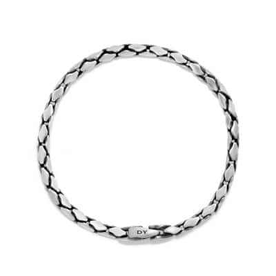 Small Fluted Chain Bracelet, 3.8mm