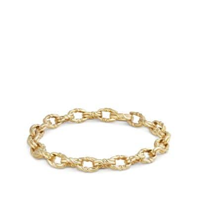 Continuance Small Twisted Cable Chain Bracelet in 18K Gold