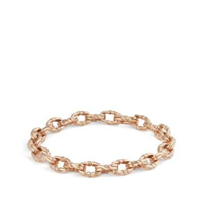 Continuance Small Twisted Cable Chain Bracelet in 18K Rose Gold