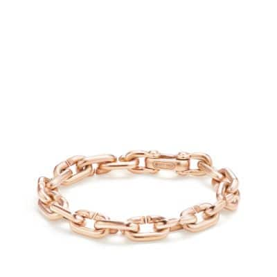 Chain Link Bold Bracelet in 18K Rose Gold
