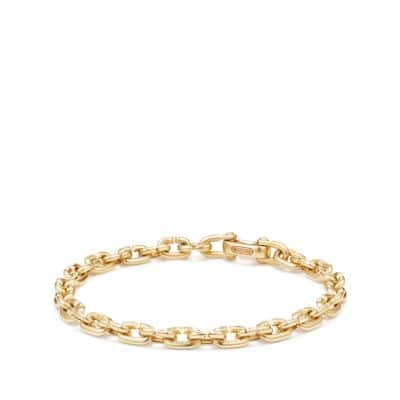 Chain Link Narrow Bracelet in 18K Gold