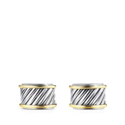 Cable Cigar Band Cufflinks with Gold