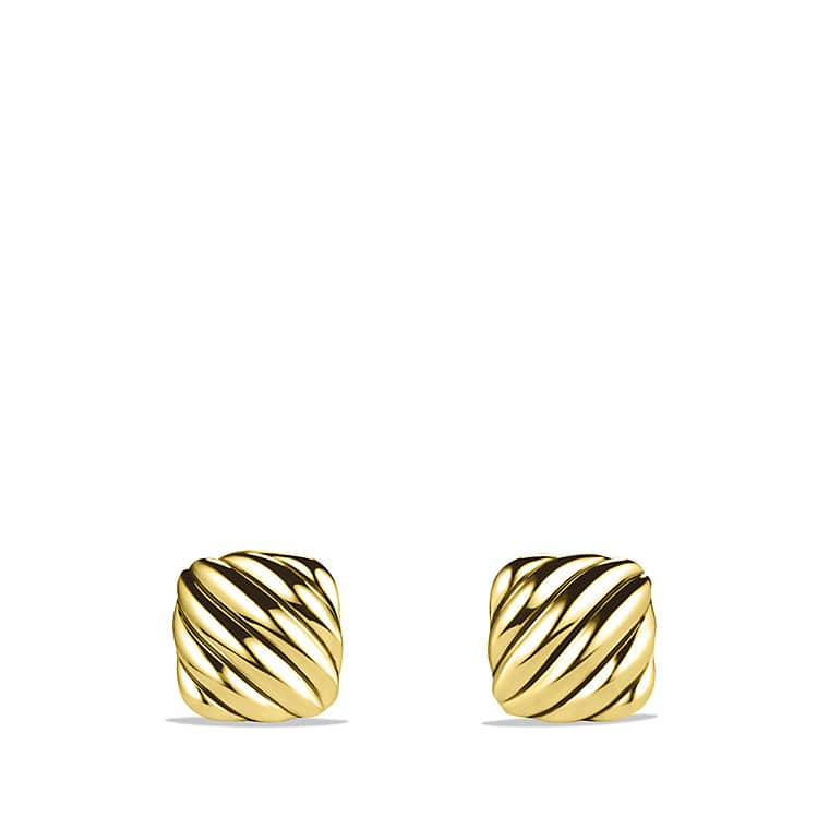 Cable Cushion Cufflinks in 18K Gold