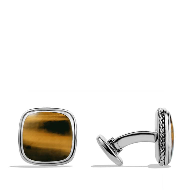 Exotic Stone Cufflinks with Tiger's Eye