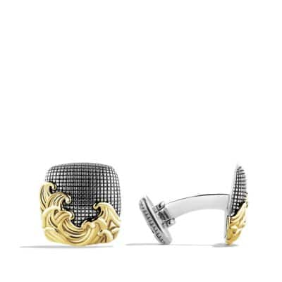 Waves Cufflinks with Gold