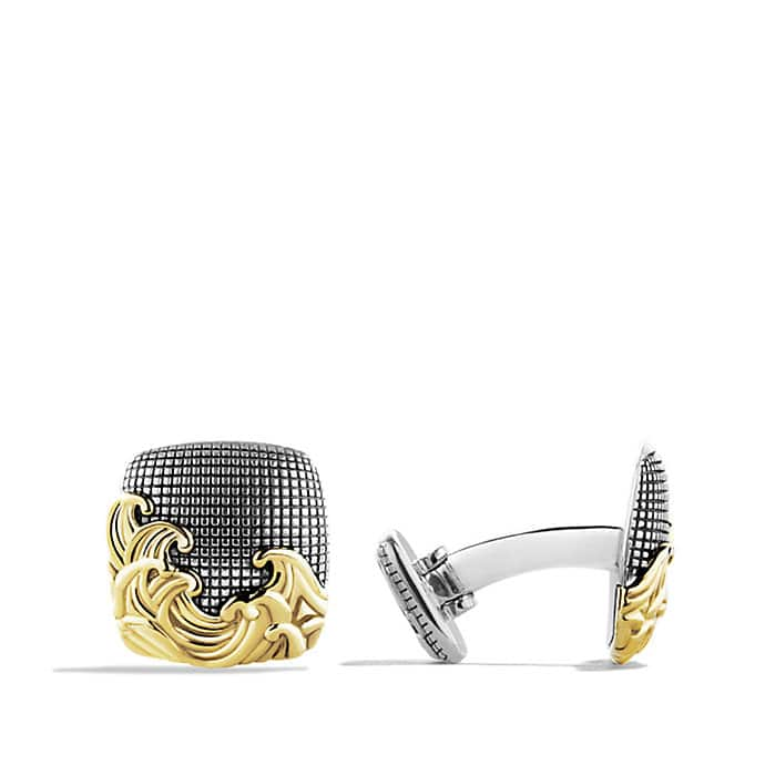 Waves Cufflinks with 18K Gold