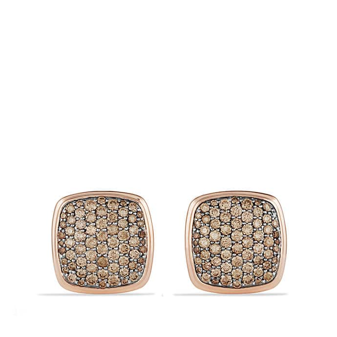 Pave Cufflinks with Cognac Diamonds in 18K Rose Gold