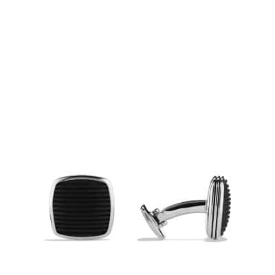 Royal Cord Cufflinks with Black Onyx