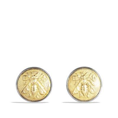 Petrvs Bee Cufflinks with Gold