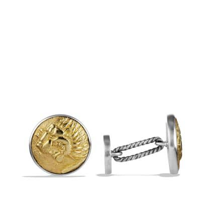Petrvs Lion Cufflinks with Gold