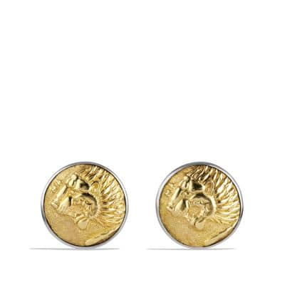 Petrvs Lion Cufflinks with 18K Gold