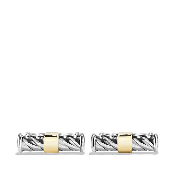 Cable Classic Cufflinks with 18K Gold