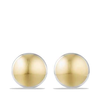 Streamline Cufflinks with 18K Gold