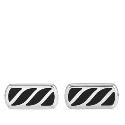 Graphic Cable Cufflinks with Black Onyx