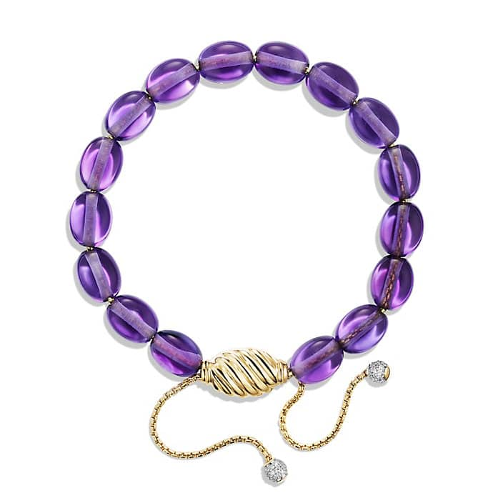 Bracelet with Amethyst and Diamonds in 18K Gold