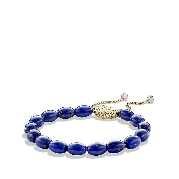 Bracelet with Lapis Lazuli and Diamonds in 18K Gold
