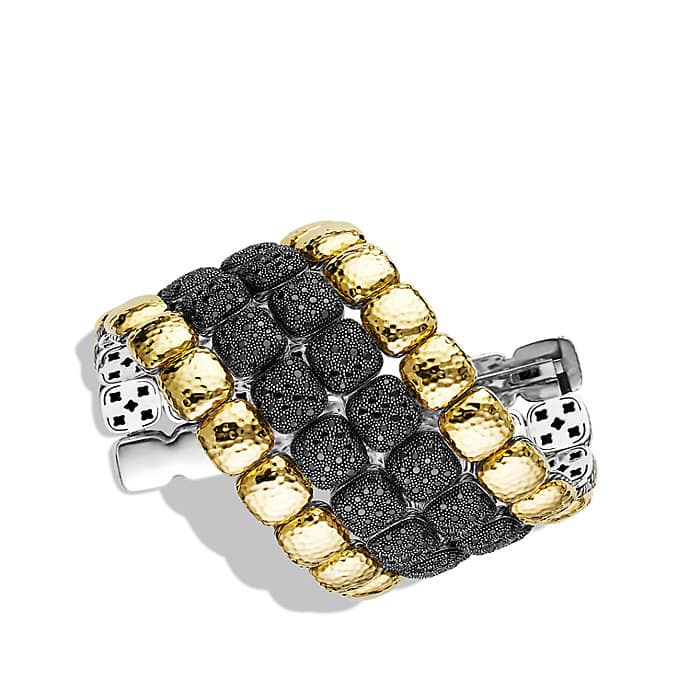 Chiclet Limited-Edition Four-Row Bracelet in Gold