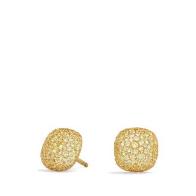 Pavé Earrings in 18K Gold