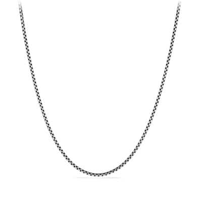 Small Box Chain Necklace with an Accent of 14K Gold, 2.7mm