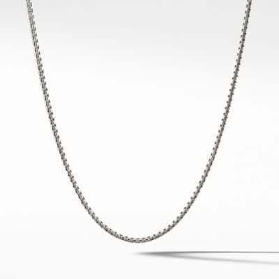 Small Box Chain Necklace, 2.7mm